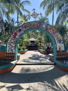 Colorful arch in Sayulita